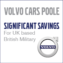 Volvo Cars Poole. Significant Savings for UK based British Military